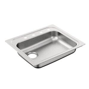 2000 series 25   x 22   single bowl drop in kitchen sink modern 20 gauge and up kitchen sinks   allmodern  rh   allmodern com