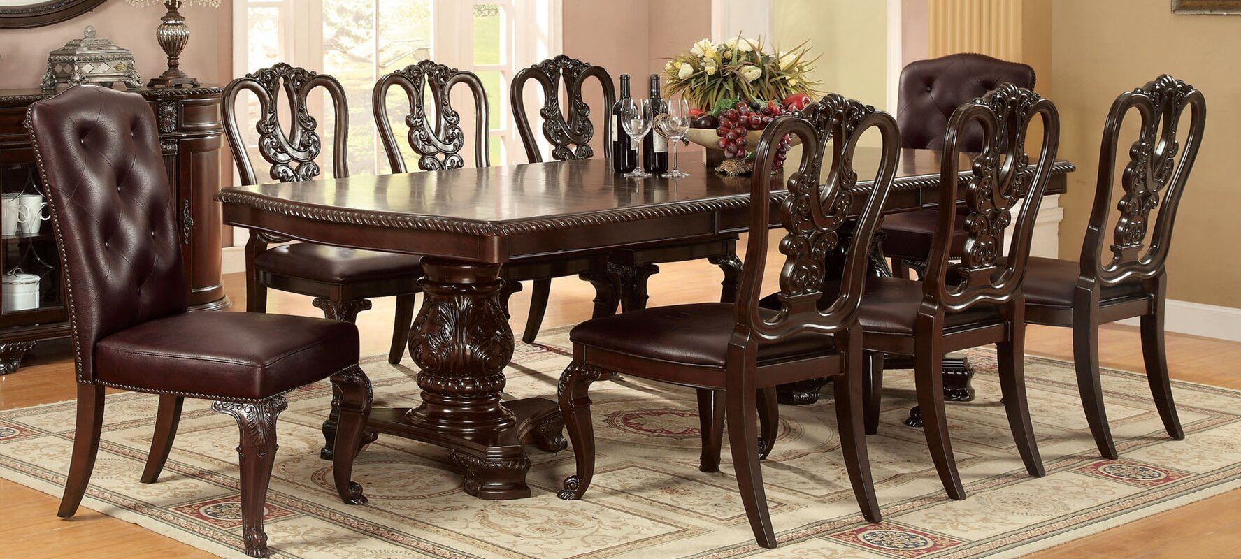 Brown Cherry Dining Table