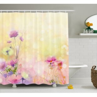 Great choice Ariel Vintage Soft Feminine Magnolia Blooms Motif Whorls Art Shower Curtain ByWinston Porter