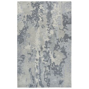 Greco Hand-Tufted Wool Gray Area Rug by Williston Forge