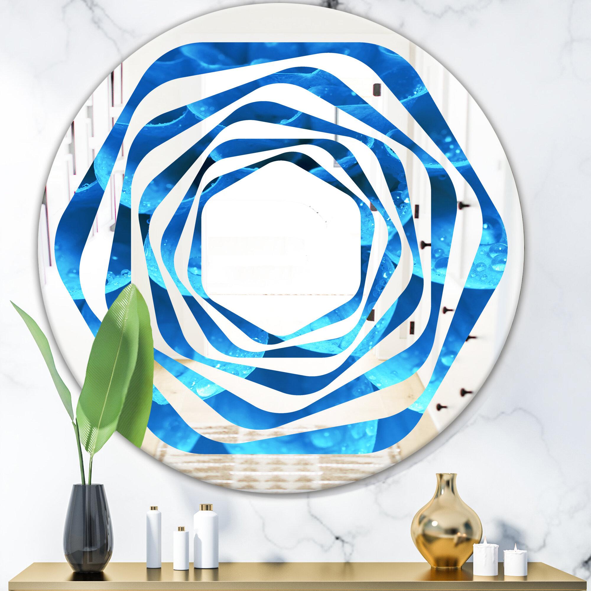 East Urban Home Whirl Large Light Flower And Petals Coastal Frameless Wall Mirror Wayfair