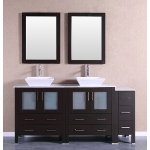 Bartone 71 Double Bathroom Vanity Set with Mirror by Bosconi