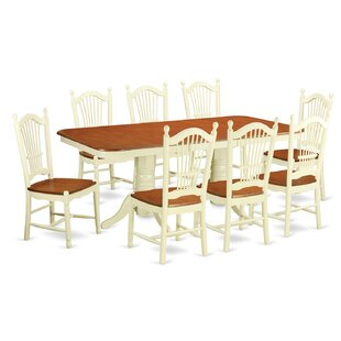 Pillsbury 9 Piece Wood Dining Set with Double Pedestal Table Legs