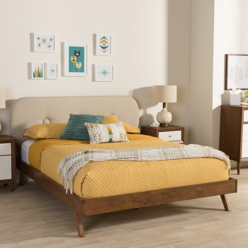 Best Mid Century Modern Beds, Cool Modern Beds, Katherine Upholstered Platform Bed