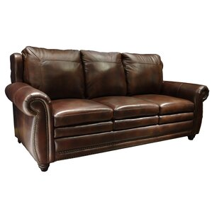 Dillen Leather Sofa by Darby Home Co