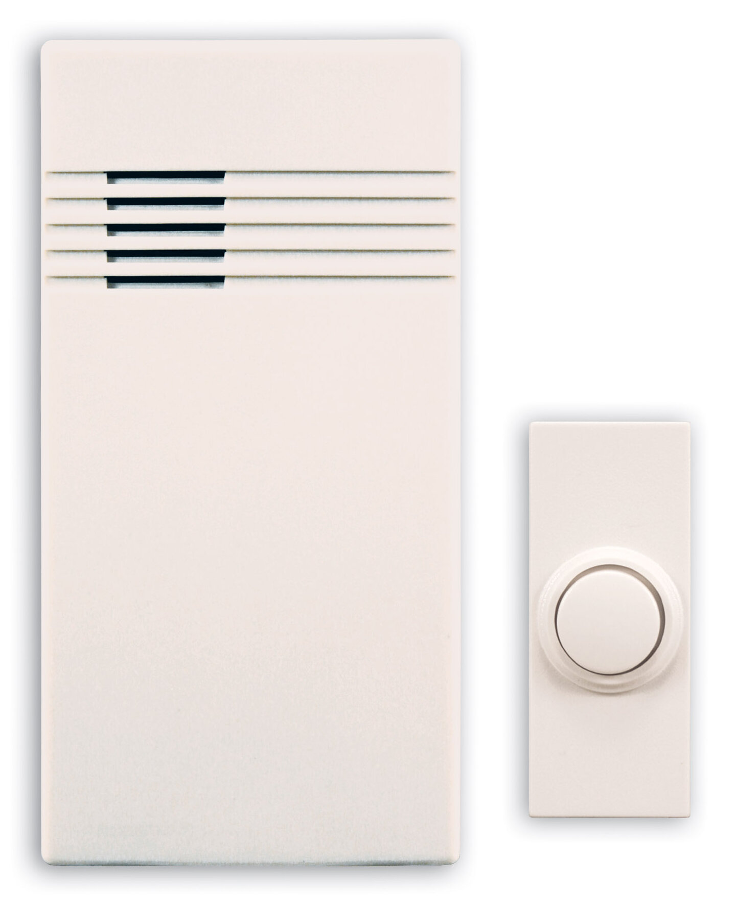 Heath Zenith Wireless Battery Operated Door Chime Kit With Off White How To Add A Second Doorbell Cover Reviews Wayfair