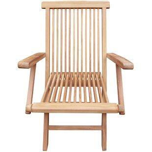Dramieco Folding Teak Patio Dining Chair (Set of 2)