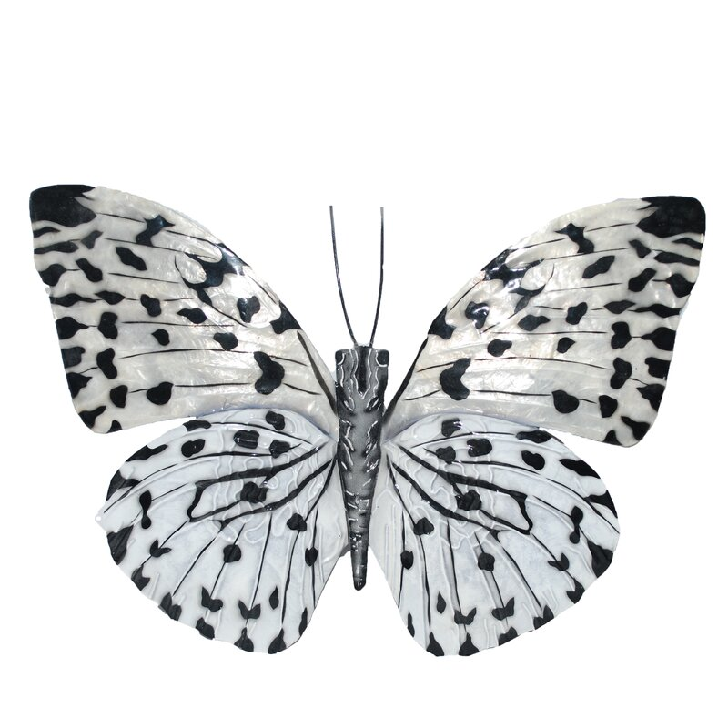 Bloomsbury Market Contemporary Butterfly Metal Wall Decor ...