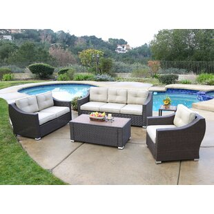 Leib 5 Piece Sofa Set with Cushion