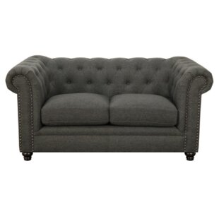 Cozine Chesterfield Loveseat by Darby Home Co