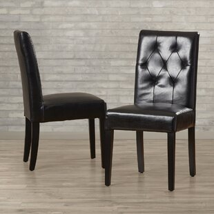 Allegany Bonded Leather Upholstered Dining Chair (Set of 2) Alcott Hill