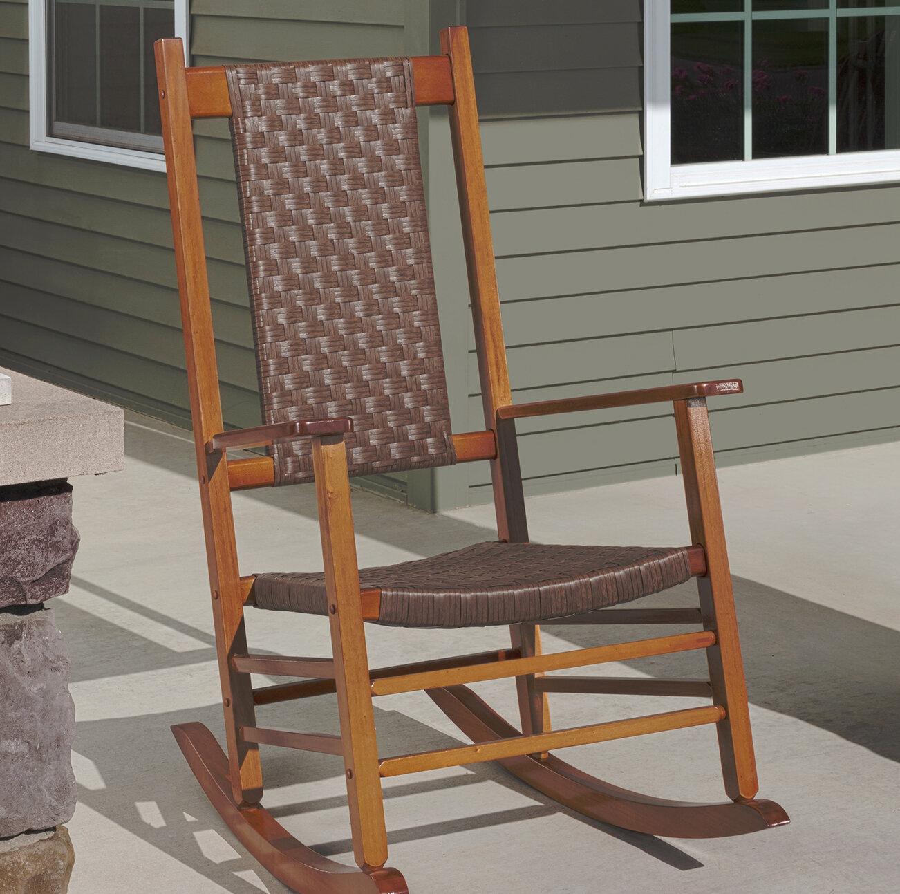 Jack Post Knollwood Wicker Rocking Chair Reviews Wayfair