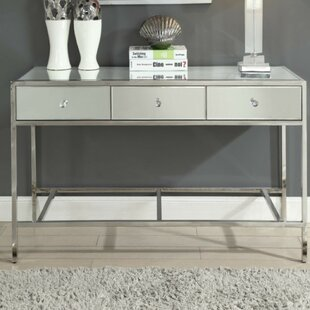 Rosina Rectangular Wood and Mirror Console Table