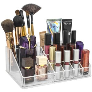 sectional medium makeup cosmetic organizer