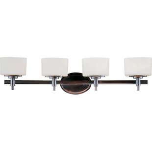 Reviews Danbury 4-Light Vanity Light By Latitude Run