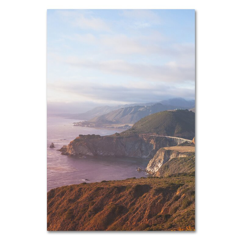 Trademark Art Big Sur Coast Sunset By Ariane Moshayedi Photographic Print On Wrapped Canvas Wayfair