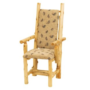 Traditional Cedar Log Arm Chair by Fireside Lodge Design