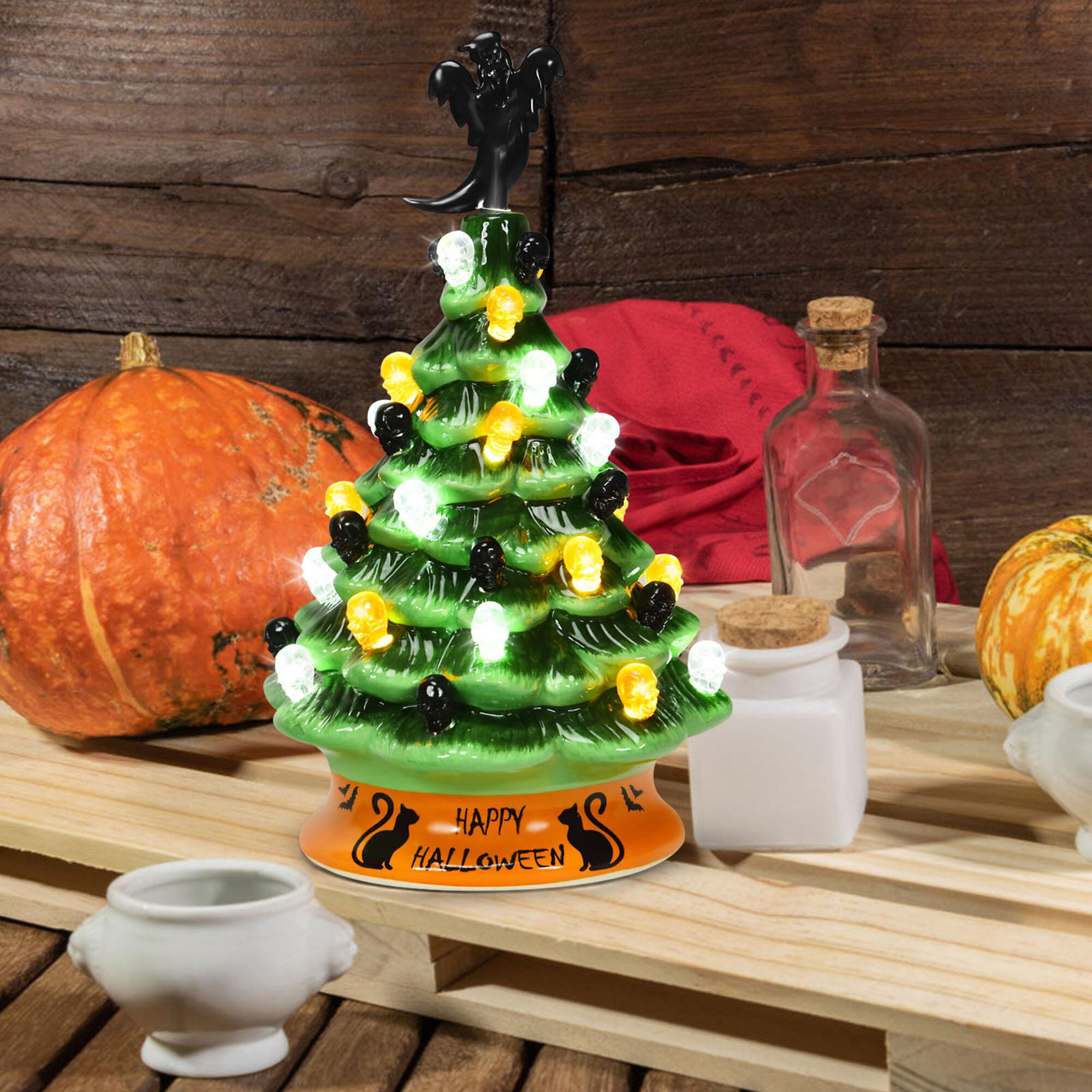 The Holiday Aisle Pre Lit Halloween Tree Tabletop Decor Wayfair