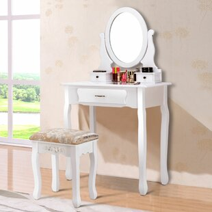 Nero Vanity Set with Mirror by Winston Porter