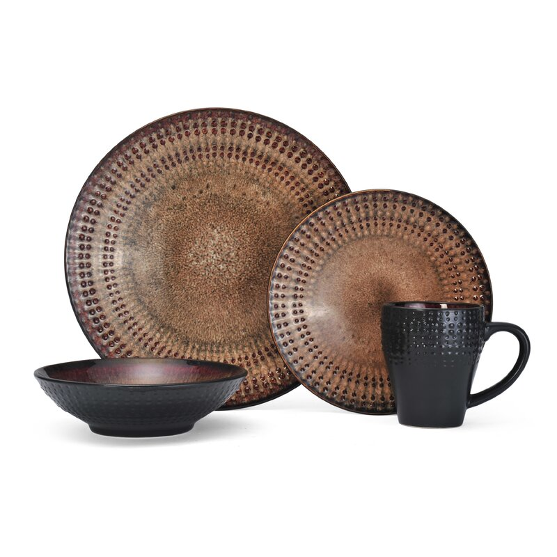 Pfaltzgraff Cambria Everyday 16 Piece Dinnerware Set, Service for 4 ...