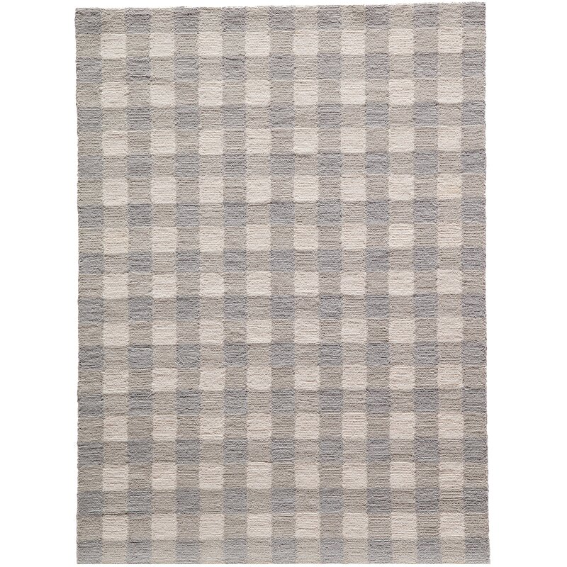 August Grove Violet Hand-Woven Gray Area Rug, Size: Rectangle 76 x 96