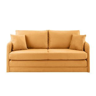 Shop Alverez Convertible Sleeper Loveseat by Wrought Studio