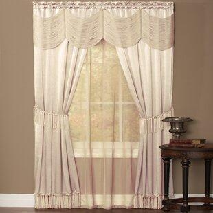 halley compete complete draperies curtain set curtains mauve achim