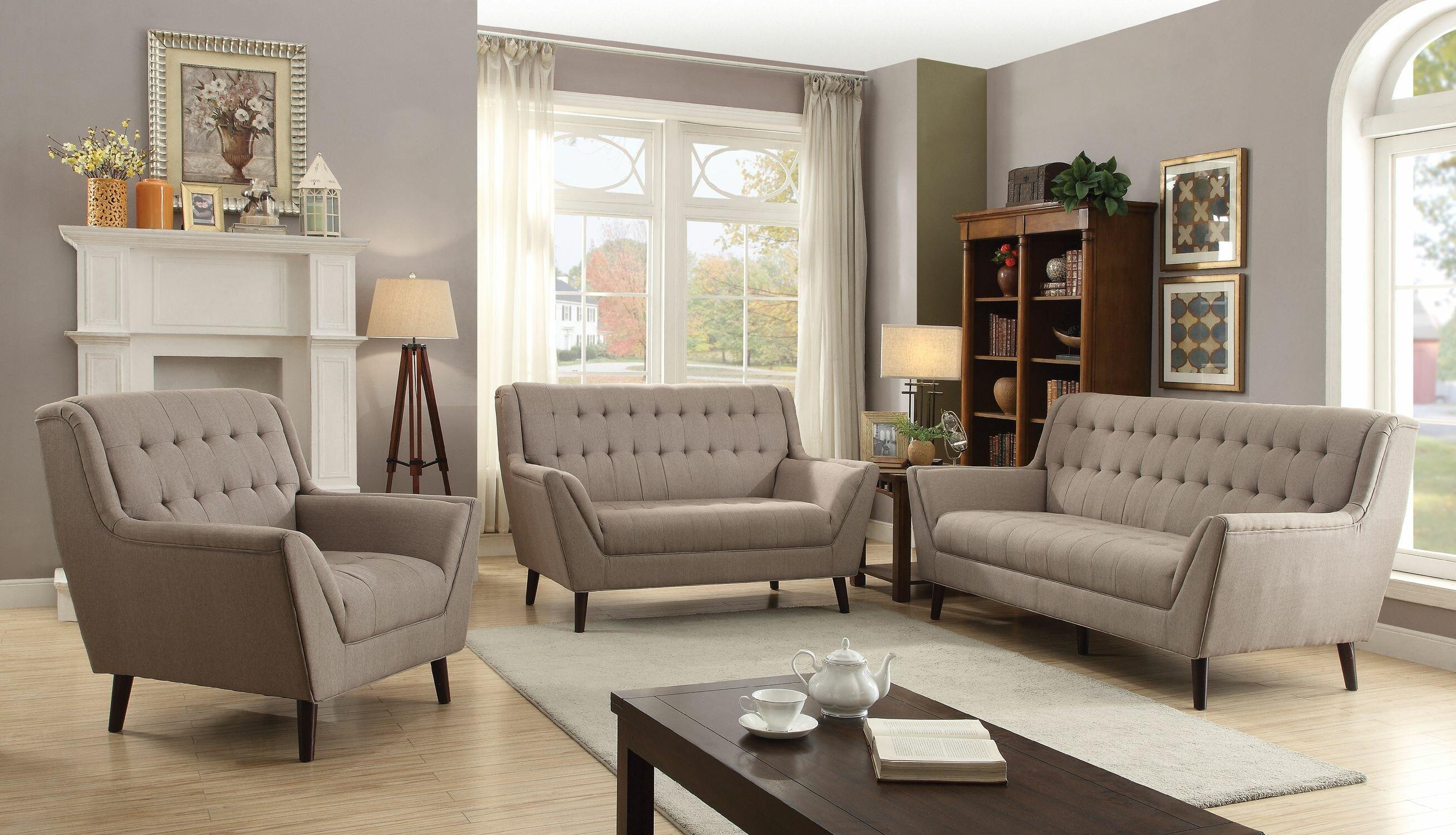 George oliver camryn 3 piece living room set wayfair