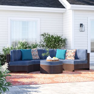 Bermuda 5 Piece Sectional Set with Cushions