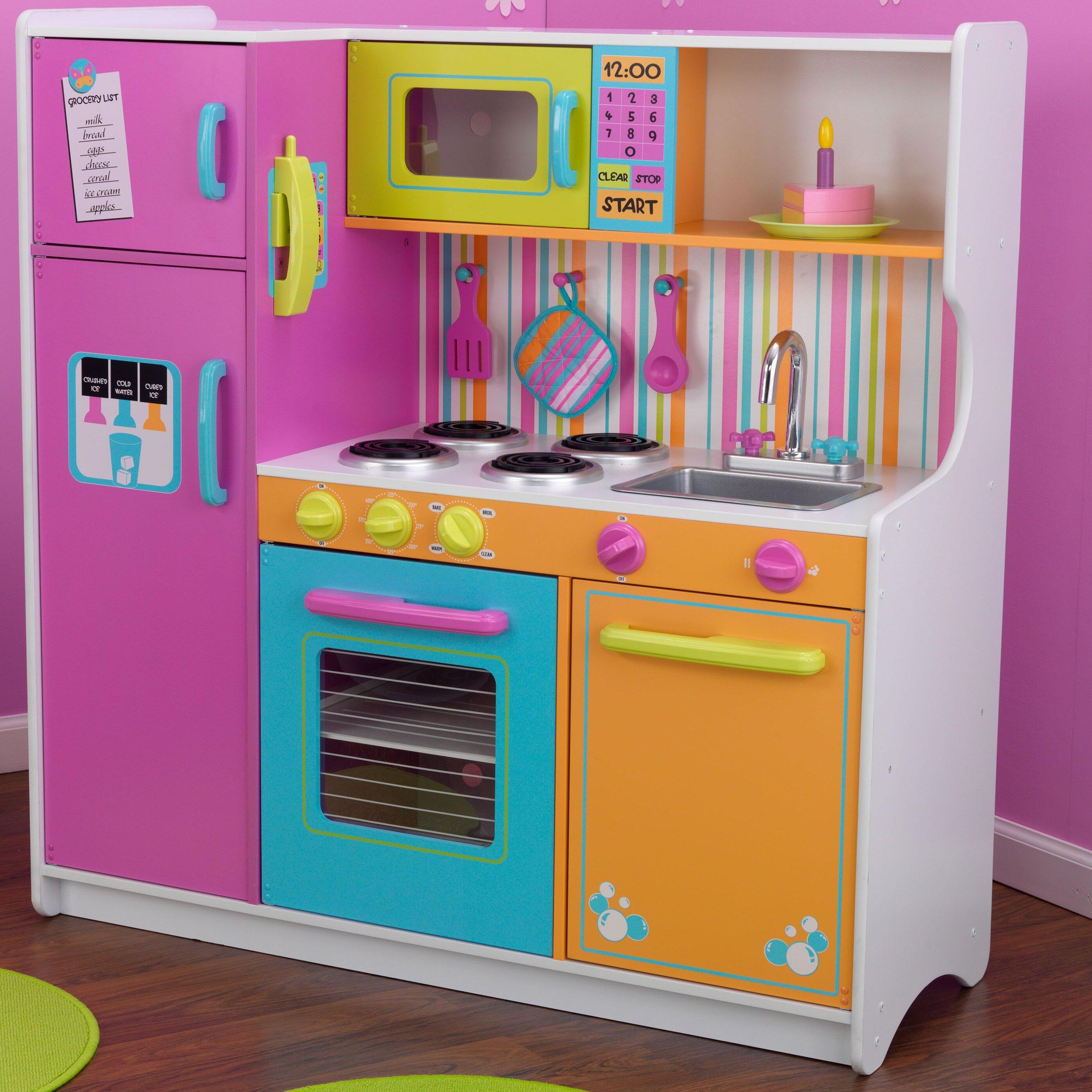 KidKraft Deluxe Big & Bright Kitchen Set & Reviews | Wayfair