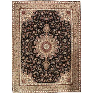 Affordable Tabriz Sino Fine Hand Knotted Wool Black/Beige Area Rug By Pasargad NY