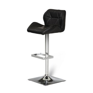 Clower Adjustable Seat Height Swivel Bar Stool Orren Ellis
