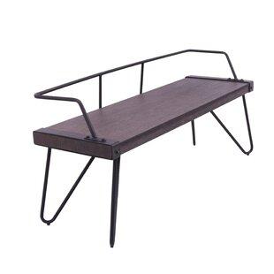 Phenomenal Abigale Low Back Metal Bench Ibusinesslaw Wood Chair Design Ideas Ibusinesslaworg