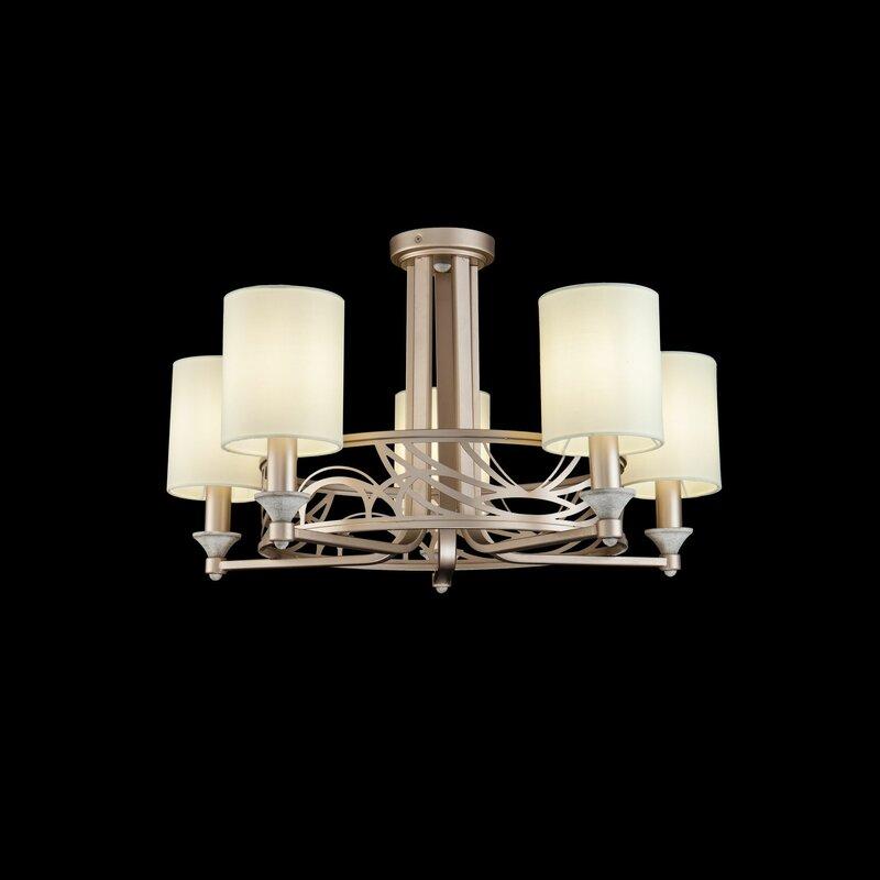 Kronleuchter Mit Lampenschirmen Moderne Kronlechter Hier: ClassicLiving Kronleuchter Mit Lampenschirmen 5-flammig