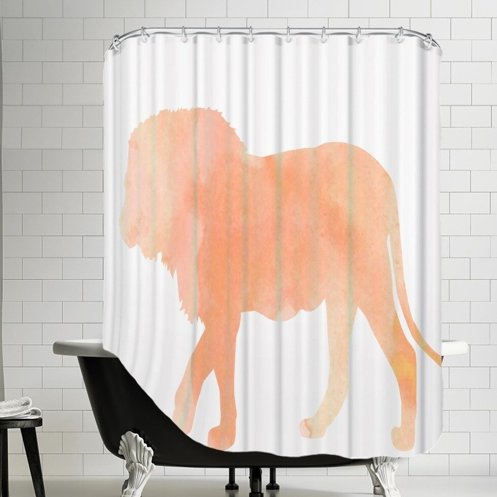 East Urban Home Flamingos And Unicorns Coral Lion Single Shower Curtain Wayfair