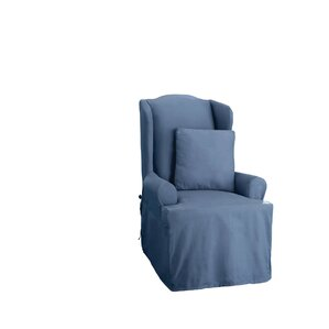 Cotton Duck T-Cushion Wingback Slipcover by Sure Fit