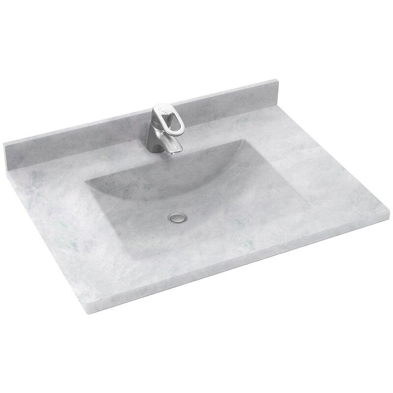 vanity countertop with sink. Contour 37  Single Bathroom Vanity Top Tops You ll Love Wayfair