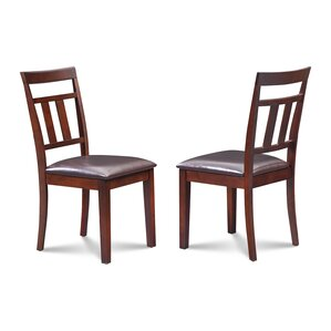 Chancey Faux Leather Seat Dining Side Chair (Set of 2) by Alcott Hill