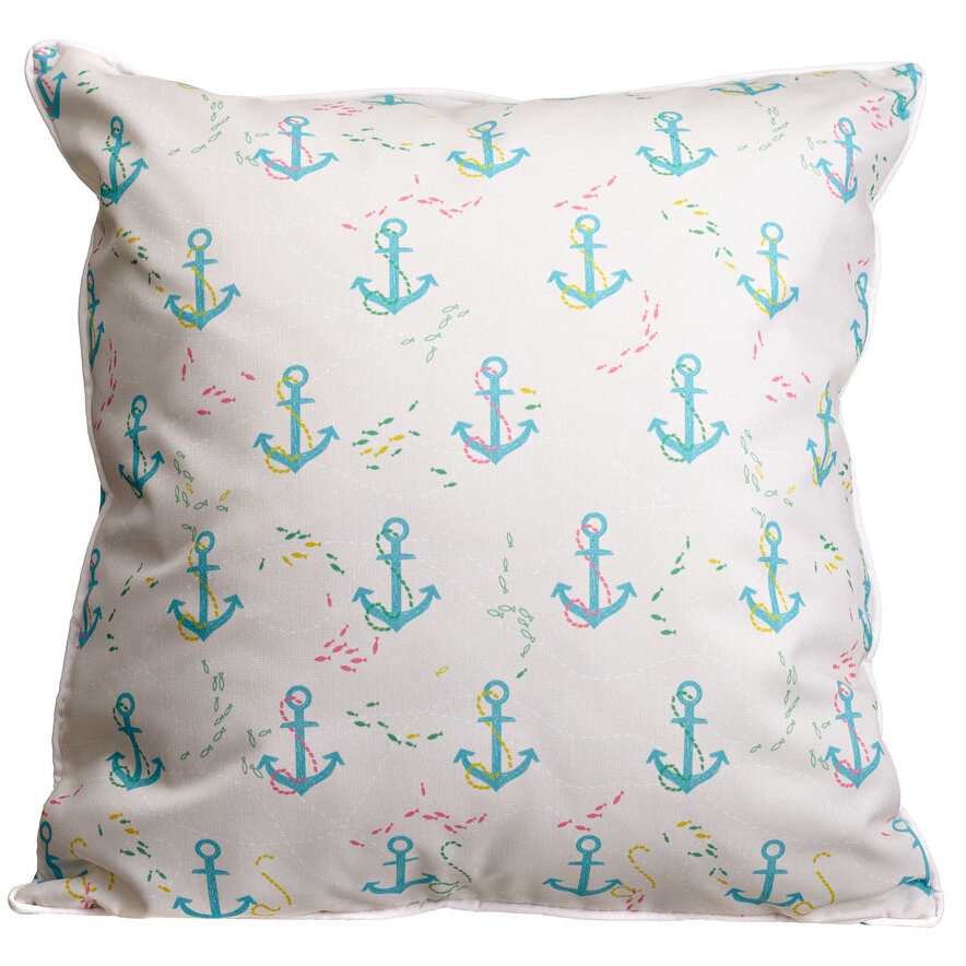 Island Girl Home Amelia Anchor Splash Throw Pillow Wayfair