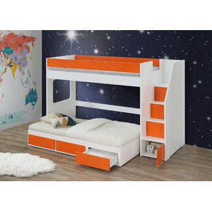 Shepardson Twin Loft Bed with Trundle and Desk
