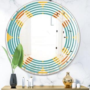 Wave Diamond IV Modern Frameless Wall Mirror