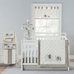 Arcola Elephant Baby Walk 4 Piece Crib Bedding Set Of