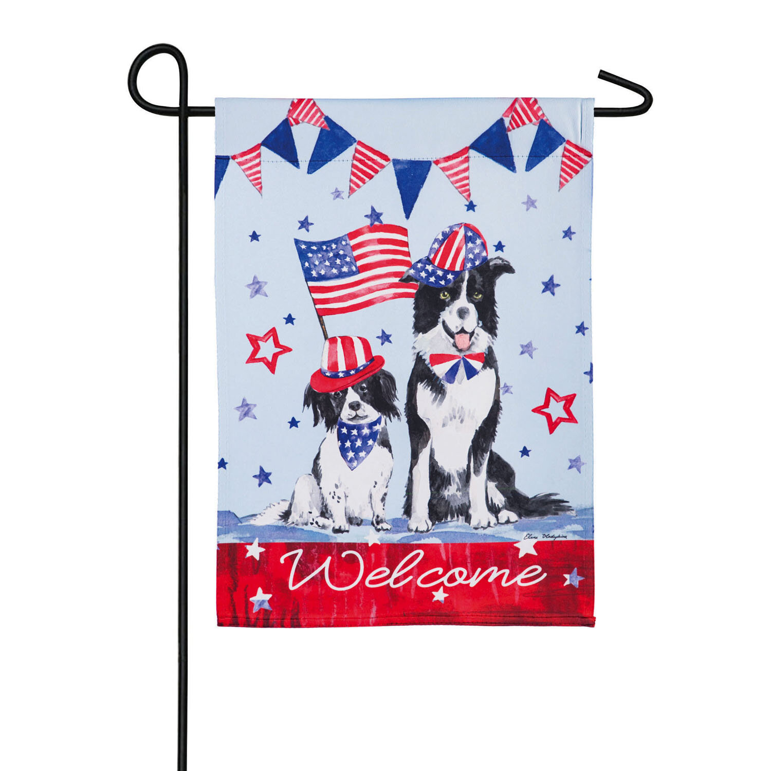 Evergreen Flag Garden Patriotic Dogs 2 Sided Suede 18 X 12 5 In Garden Flag Wayfair
