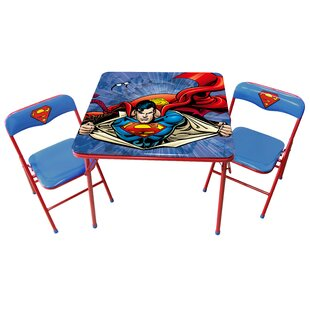 Superman Kids 3 Piece Writing Table and Chair Set by O'Kids Inc.