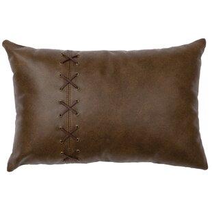 Tynan Leather/Suede Lumbar Pillow