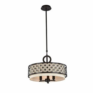 Quinlan 3-Light Drum Chandelier by Mercer41