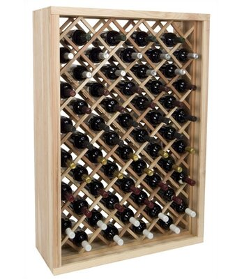 Wine Cellar Innovations Vintner Series 58 Bottle Floor Wine Rack Finish: Dark Walnut