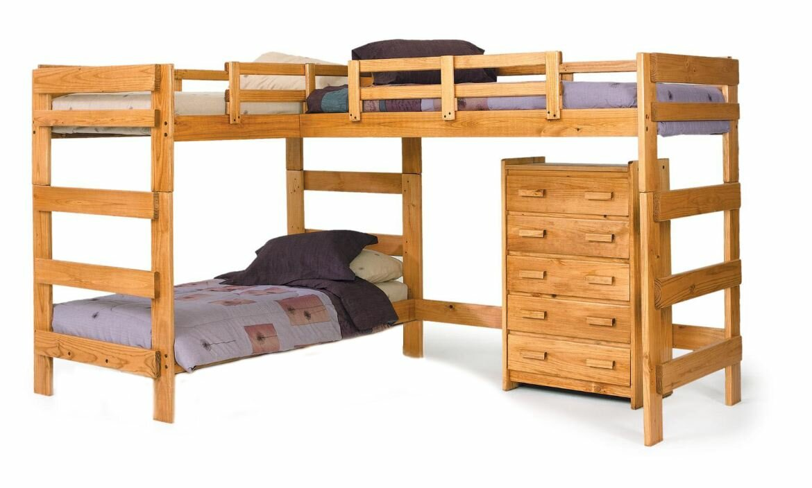 viv  rae deondre lshaped bunk bed  reviews  wayfair - defaultname