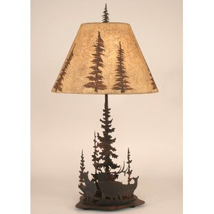 Glenlee Elk and Feather Tree 33 Table Lamp