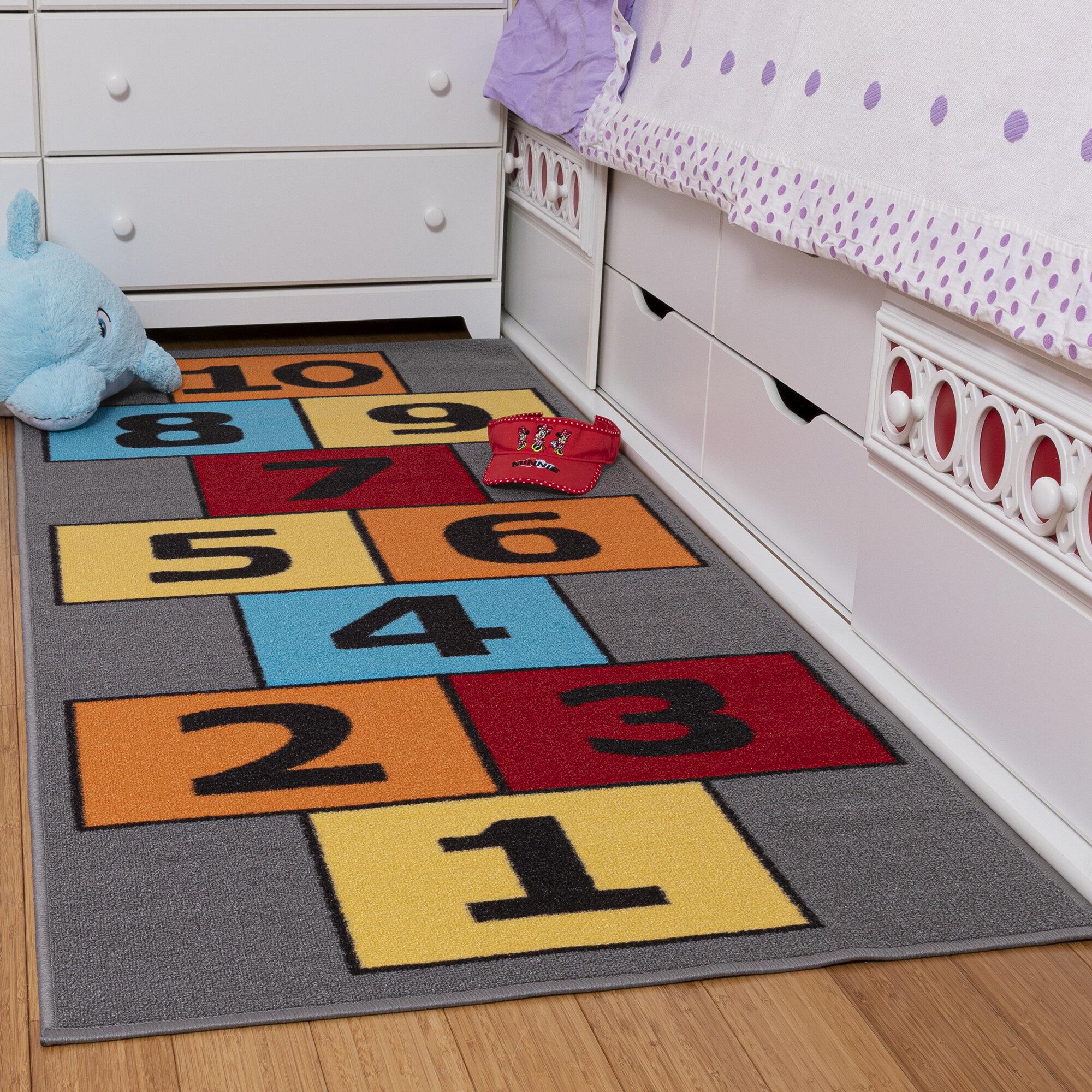 Zoomie Kids Malik Educational Hopscotch Children Area Rug Reviews Wayfair